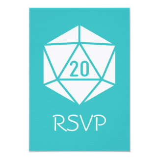 Tabletop Chic in Turquoise RSVP Card