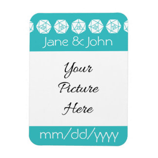 Tabletop Chic in Turquoise Save-the-Date Magnet