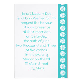 Tabletop Chic in Turquoise Wedding Invitation