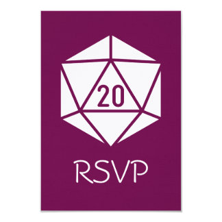 Tabletop Chic in Wine RSVP Card