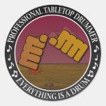 Tabletop drummer sticker