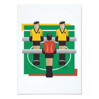Tabletop Soccer 5x7 Paper Invitation Card