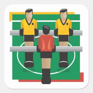 Tabletop Soccer Square Sticker