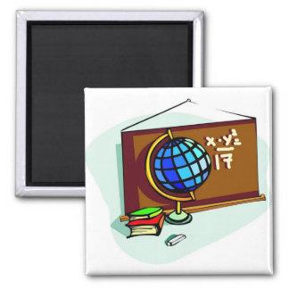 Tablón de anuncios de la escuela imán cuadrado