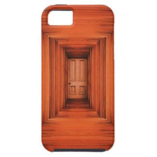 Tablones anaranjados Pasillo y puerta iPhone 5 Funda