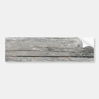 Tablones de madera etiqueta de parachoque
