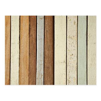 Tablones de madera coloreados tarjeta postal