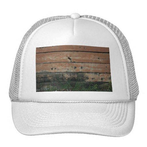 Tablones de madera con la fotografía creciente de  gorro