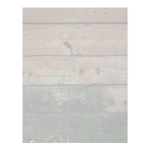 Tablones de madera con la fotografía creciente de  membrete personalizado