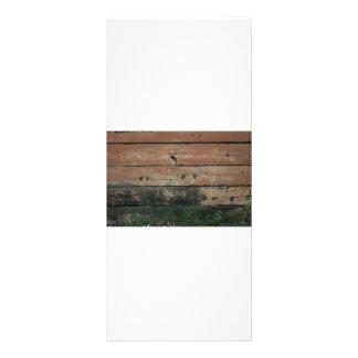 Tablones de madera con la fotografía creciente de  plantilla de lona