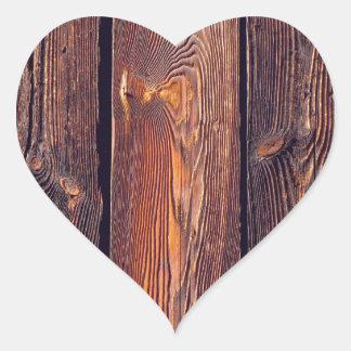 Tablones de madera del modelo del listón pegatina en forma de corazón
