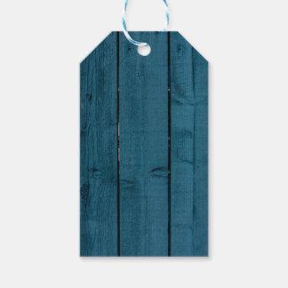 Tablones de madera pintados azul etiquetas para regalos