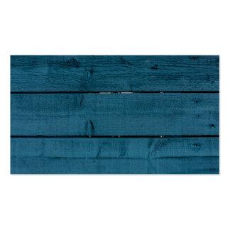 Tablones de madera pintados azul tarjetas de visita