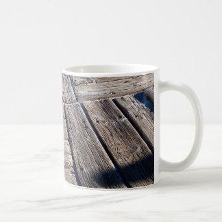 tablones de madera taza de café