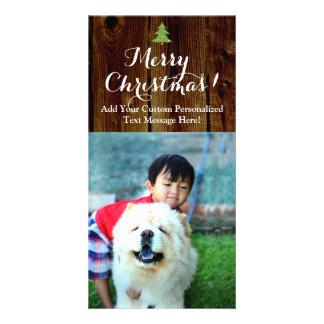 Tablones del país de las Felices Navidad del Tarjeta Fotográfica