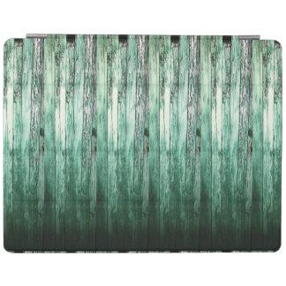 Tablones rústicos HFPHOT04 del granero verde del Cover De iPad