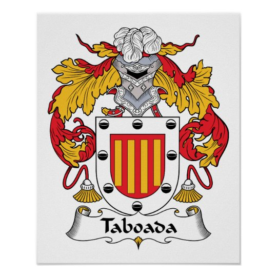 Taboada Family Crest Poster