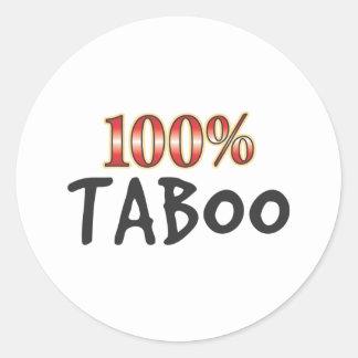 Taboo 100 Percent Classic Round Sticker
