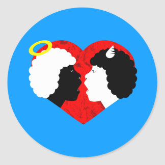taboo love classic round sticker