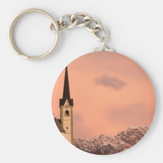 Tabor church at sunrise keychain