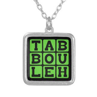 Taboulleh, plato de Levantine Vegitarian Collar Personalizado