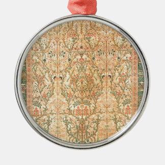 TABRIZ PERSIAN DESIGN ROUND METAL CHRISTMAS ORNAMENT