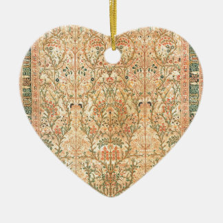 TABRIZ PERSIAN DESIGN Double-Sided HEART CERAMIC CHRISTMAS ORNAMENT