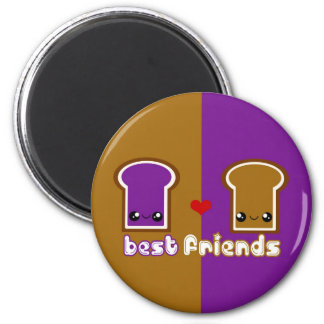 Tabu Japan Best Friends Line- PB&J 2 Inch Round Magnet