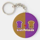 Tabu Japan Best Friends Line- PB&J Basic Round Button Keychain