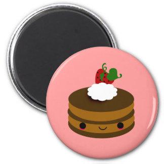 Tabu Japan Cake Line- Chocolate 2 Inch Round Magnet