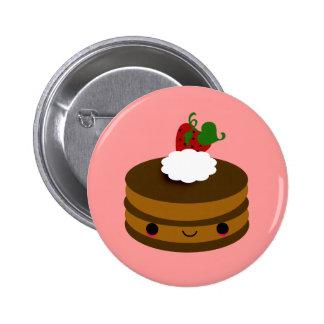 Tabu Japan Cake Line- Chocolate Pinback Button