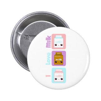 Tabu Japan- Milk Line Pinback Button