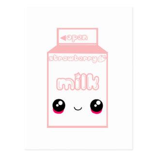 Tabu Japan Milk Line- Strawberry Postcard