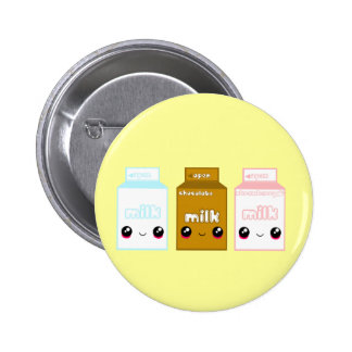 Tabu Japan Milk Line- Triple Pinback Button