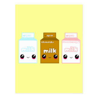 Tabu Japan Milk Line- Triple Postcard