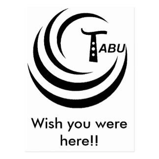 Tabu Logo no back TABU clear LARGE PNG Postcard