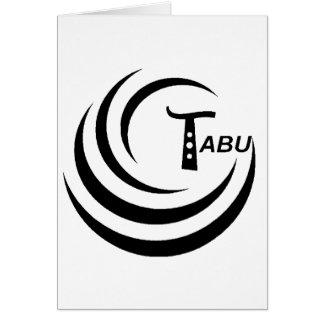 Tabu T Logo Large Black color Greeting Card