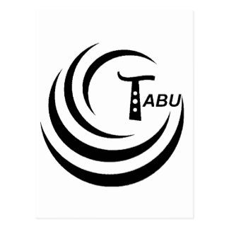 Tabu T Logo Large Black color Postcard