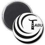 Tabu T Logo Large Black color Refrigerator Magnets