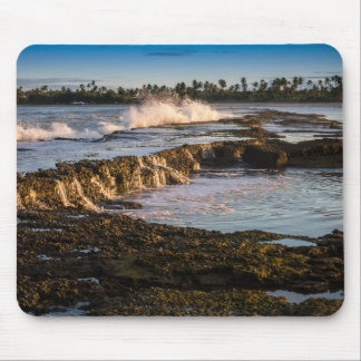 Tabuba Beach: Breaking Waves On The Reefs Mouse Pad