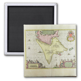 Tabula Magellanica, Quatierrae del Fuego, plate 18 Magnet