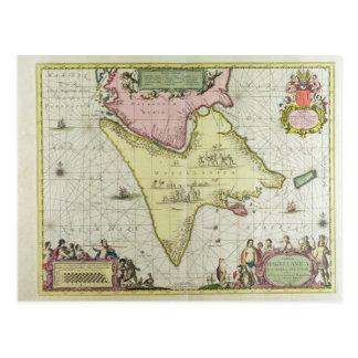 Tabula Magellanica, Quatierrae del Fuego, plate 18 Postcard