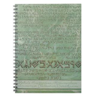 Tabula magika spiral notebook