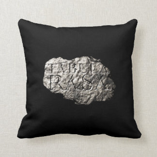 Tabula Rasa logo throw pillow