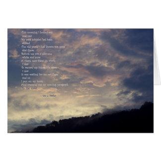 Tabula Rasa Poem Note Card