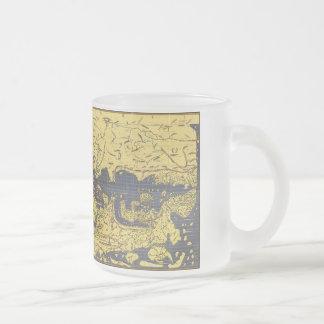 tabula rogeriana frosted glass coffee mug