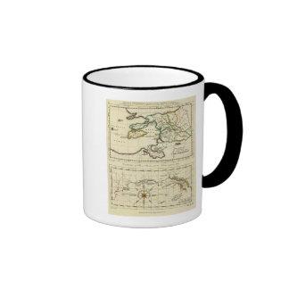 Tabularum geographicarum specimen World Map Ringer Coffee Mug