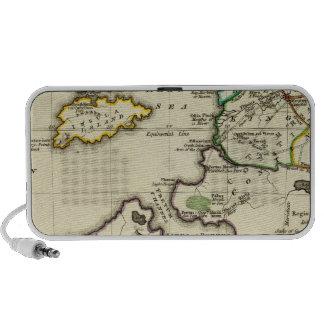 Tabularum geographicarum specimen World Map Laptop Speaker