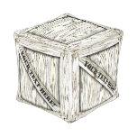 Taburete blanco del cubo del cajón de madera puff cuadrado