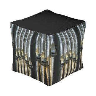 Taburete cuadrado de plata de los tubos de órgano puff cuadrado